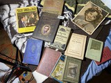 Books lot including Abraham Lincoln + Press photo of Shirley Temple