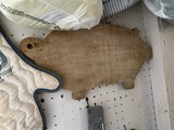 Vintage wooden pig shaped cutting board