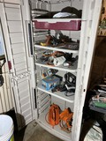 Contents of utility cabinet - tools, planes