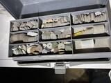 Large qty Dremel tool bits, other items