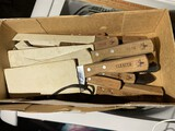 Box lot of new kitchen chef's knives