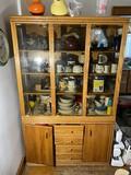 Vintage oak China Cabinet or Cupboard