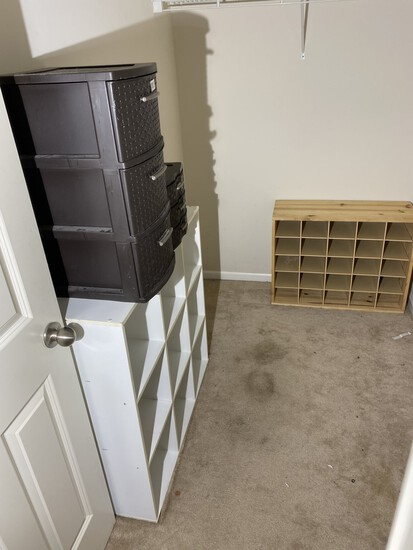 Storage bins, shoe holder, storage rack
