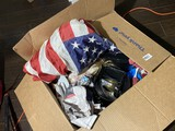 Misc kitchen items, Keurig coffee pot, American Flag