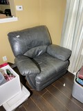 Vintage large sized leather chair