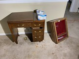 Sewing machine desk, display cabinet