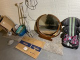 Group lot misc items inc vanity mirror