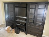 Large sized Entertainment Center with Shelf Units