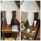 2 end tables plus lamps, contents, items on top