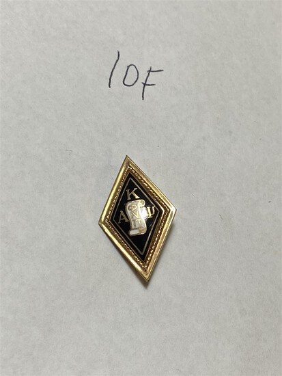 Antique 10k gold fraternity pin