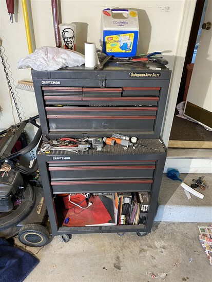 Craftsman Tool Box with contents of tools