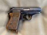 RZM Marked Nazi German Walther PPK 7.65 mm Pistol