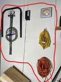 Gauges set, extension cord, clock etc