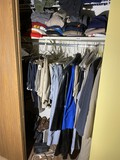 Closet contents - Men's shoes, suit coats, etc