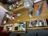 Items on top and inside of dresser