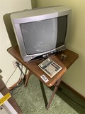 Small table, television