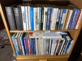 2 Shelf lots of books - many on aviation