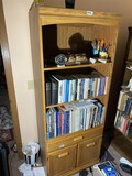 Wooden shelf unit with drawer