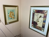 Group lot of framed art including original