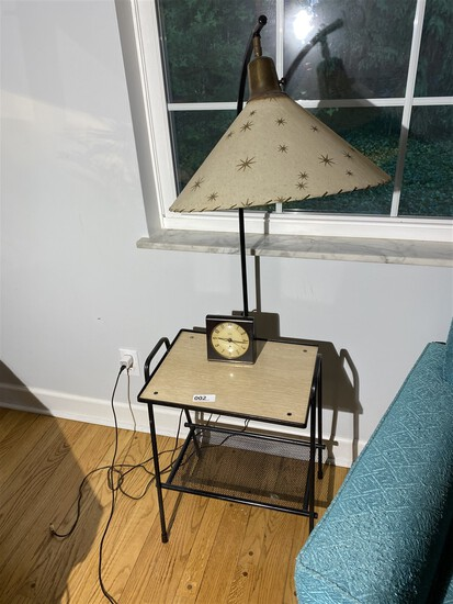 Retro 1950s Mid Century Modern Lamp Table