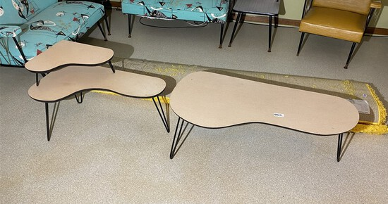 Pair of Mid Century Modern Period Kidney Tables
