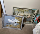2 Framed Mid Century Modern Turner Bird prints