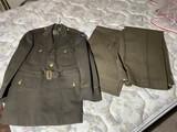 Vintage Military Uniform Coat, 2 pairs of pants