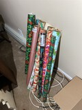 Group lot of assorted wrapping paper