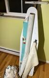 Retro fabrics lot + ironing board