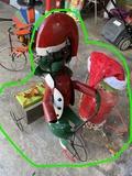 2 Metal Lawn art Christmas decor items