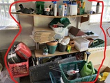 Assorted Lot including Bowling Balls, Pins, Garage items