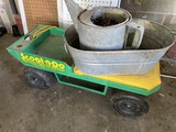 Scoot-n-Do plus galvanized tub, watering can