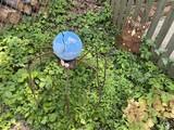 Yard at metal spider, metal bear