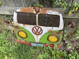 Metal Yard Art VW Peace Bus