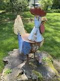 Yard art metal Chicken