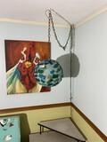 Vintage Mid Century Modern Plastic Ball Hanging Lamp