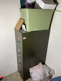 File cabinet and totes lot