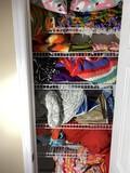 Closet contents lot - Blankets, afghans, towels etc