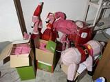 Light up Christmas Pig and Flamingos lot