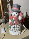 Older ceramic Light Up Frosty the Snowman