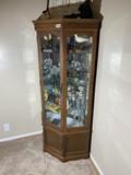 Vintage wooden Curio cabinet