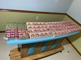 Large lot of vintage Christmas ornaments - Pink