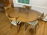 Mid Century Modern Dining Table + 4 Chairs