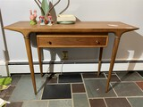 Mid Century Modern 1950s Lane Hall Table with Drawer