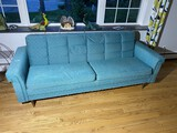 Vintage Mid Century Modern Sofa or Couch in Blue