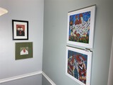 Group of four Chicken or Rooster themed framed pieces