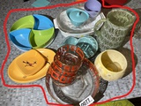 Group lot of assorted Mid Century Modern kitchen wares