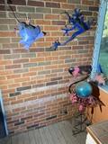 Metal decorative yard art items