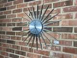 Mid Century Modern sunburst clock by Verichron