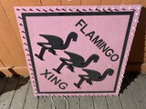 Light up Flamingo Crossing Sign